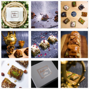 The Baklava Bites Instagram feed, which the Social Intellect team photographed