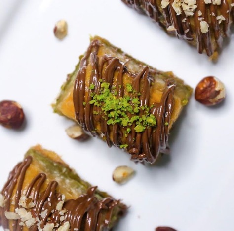 Professional photography taken by Social Intellect of Baklava Bites' products